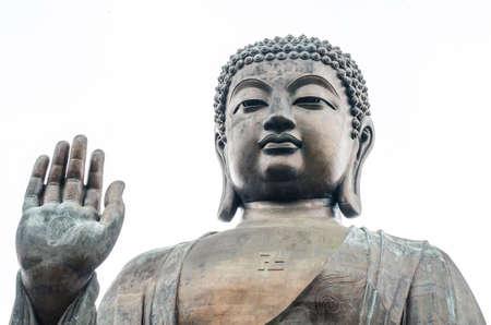 bronze statue of the Tian Tan Buddha ( Big Buddha ), Po Lin Monastery, Lantau Island, Hong Kong