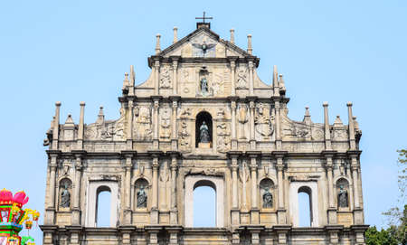 Ruins of Saint Pauls Cathedral in Macau photo