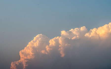 sanguine: Big cloud evening sky Stock Photo