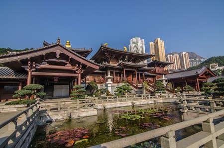 Chi Lin Nunnery in Diamond Hill District of Hong Kong, China.