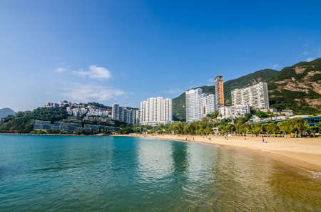 THE REPULSE BAY , HONG KONG - DECEMBER 10 : The sunny day at Repulse Bay, the famous public beach in Hong Kong on DECEMBER 10, 2016.