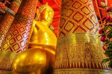 Wat Phanan Choeng is a Buddhist temple The huge Buddha Statue called Luang Pho Tho, Thai people worship Buddha temple at the city of Ayutthaya.