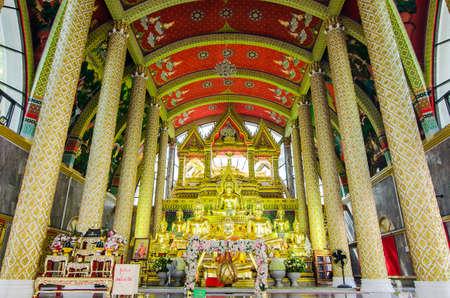 UBON RATCHATHANI, THAILAND - Feb 28, 2019 : Thai art in Pagoda at Phrathat Nong Bua Temple in Ubon Ratchathani, Thailand