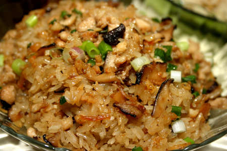 Rich dark chinese glutinous rice