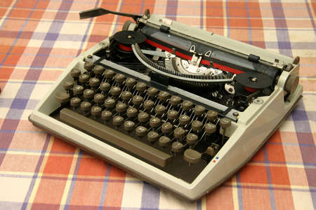 Old mechanical typewriter with ribbon and ink Stock Photo - 364296