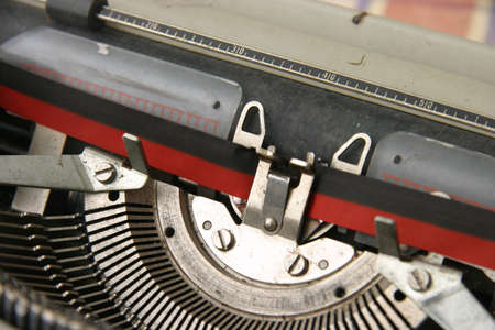 Old mechanical typewriter with ribbon and ink Stock Photo - 364295