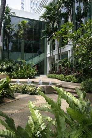 respite: Garden and Path in an urban landscape