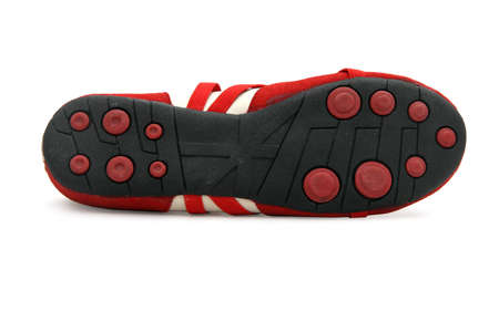 stretchy: Sole of a red dance shoe