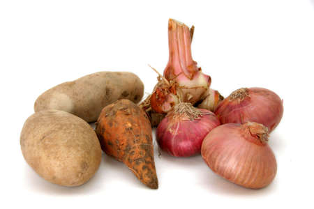 bulbous: Variety of potatoes Stock Photo