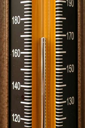 diastolic: Mercury level reading on a sphygmomanometer