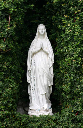 madonna: Statue or figurine of Mother Mary at grotto
