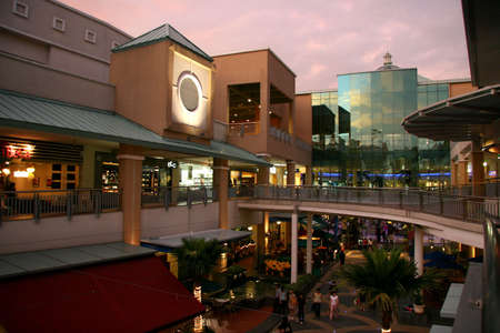 lowrise: Outdoor food & drink concept at modern shopping mall