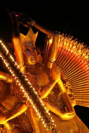 Statue of Buddha at lantern festival photo