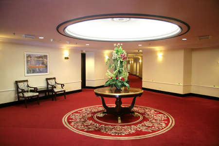 Hotel lifts and corridor foyer and waiting area photo