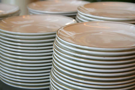 hundreds: Stacks of plates for function of hundreds