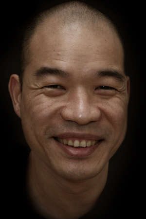 Chin Vin Sen, a Chinese Malaysian male in gritty texture photo