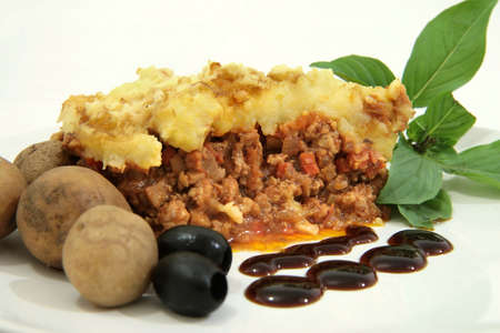 rudolf: Rudolf pie with bacon bits and mash potato topping