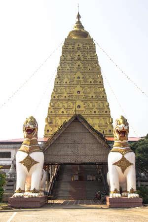 gaya: Bodh Gaya Mahabodhi Temple in Thailand Stock Photo
