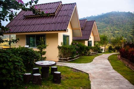 graden: Double house in graden village Editorial