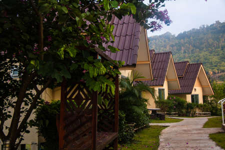 graden: Triple house in graden village Editorial