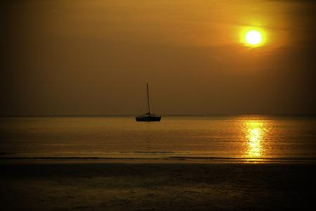 Beautiful sun set on the beach