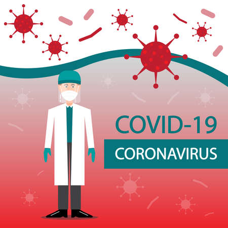 Doctors protect people from covid-19 coronavirus with face shield. Ilustração