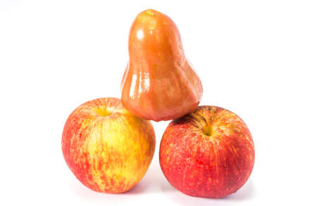 pene: mela rosa stesse pene frutta mix di mela Archivio Fotografico