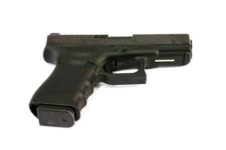 glock: a gun isolate white background
