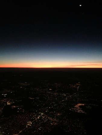 Flying sunset Stock Photo