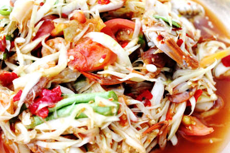 papaya salad thai food Stock Photo - 13031481