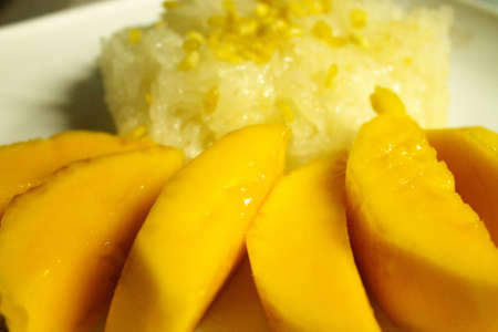 Thai s dessert Mango sticky rice  photo