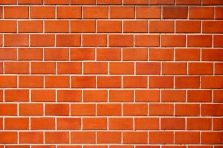 Red brick wall. photo