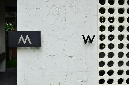 bathroom women: Toilet symbol. Stock Photo