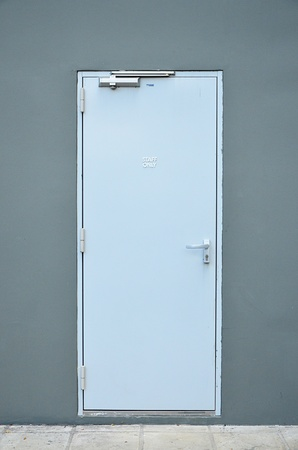 sterilized: Staff only door. Stock Photo