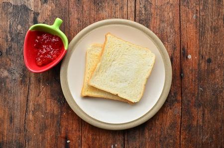 Bread on white dish  photo