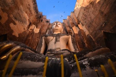 sukhothai: Buddha sculpture in the church.