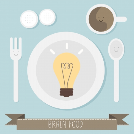 brain food idea vector