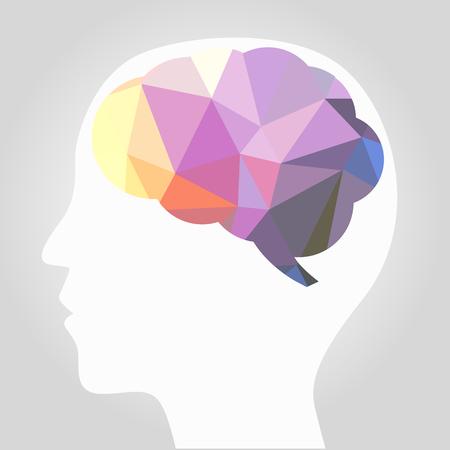cerebros: vector cerebro abstracto Vectores