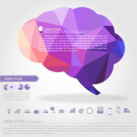 brain banner and business icon vector Ilustracja
