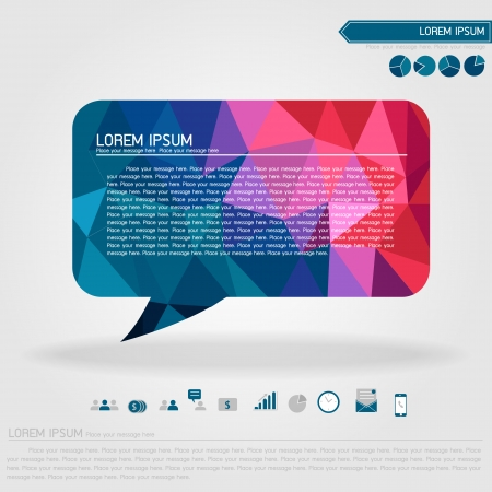 bubble talk and business icon vector Ilustração