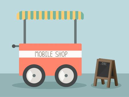 mobile shop vector