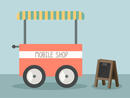 mobile shop vector