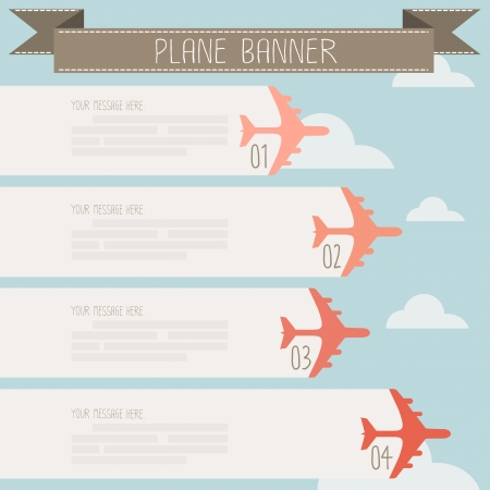 plane banner on sky vector Illustration