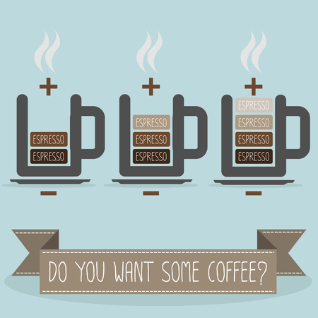 cup of coffee battery Illustration