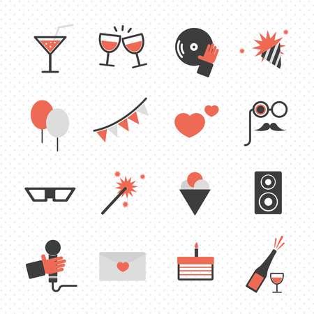 holidays and party icon vector Vector