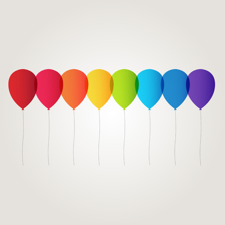 red balloons: rainbow balloon vector
