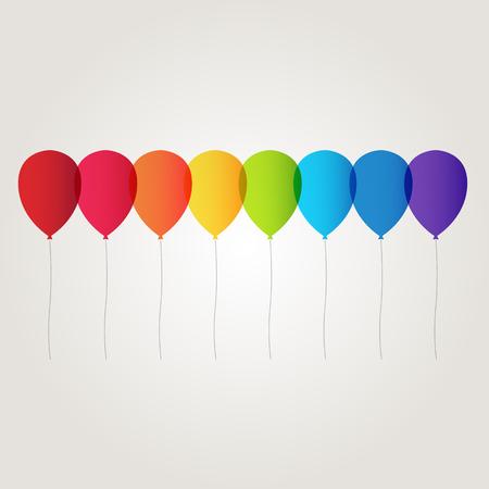 balloon vector: rainbow balloon vector