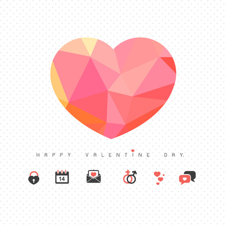 love and heart icon for valentine day vector Vector