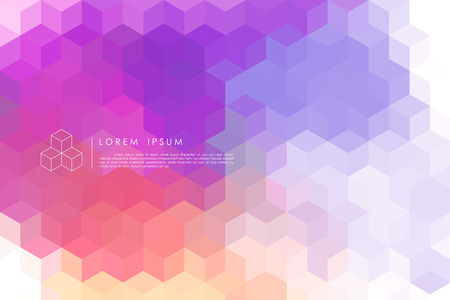 abstract background vector: cubic abstract background vector