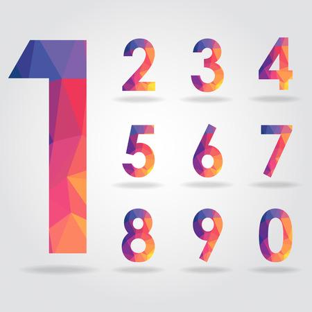 numero nueve: número de polígonos set vector Vectores